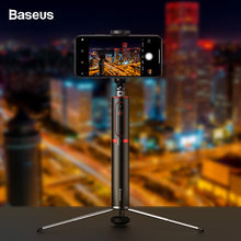 BASEUS Bluetooth Selfie Stick Tripod Nirkabel Self Stick untuk iPhone X Xiao Mi Mi Huawei Samsung Ponsel Selfie Stick Monopod(China)