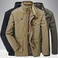 Newest mens High quality 100% Cotton jacket Windbreaker Military Jackets Army Clothes Outwear Flight Jacket Plus size 7XL 8XL