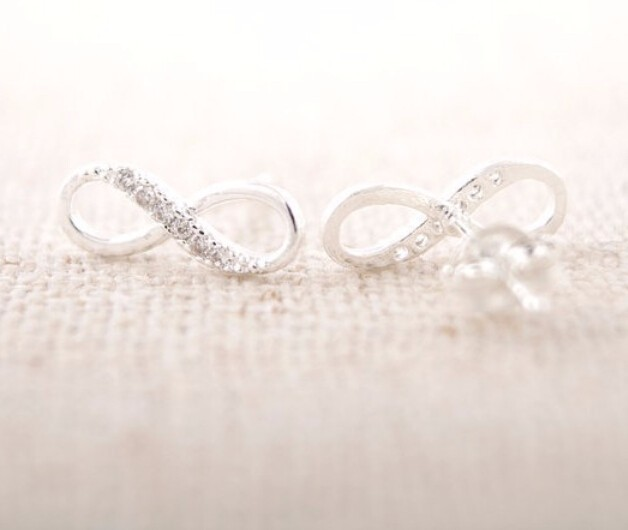 Infinity Symbol Stud Earrings
