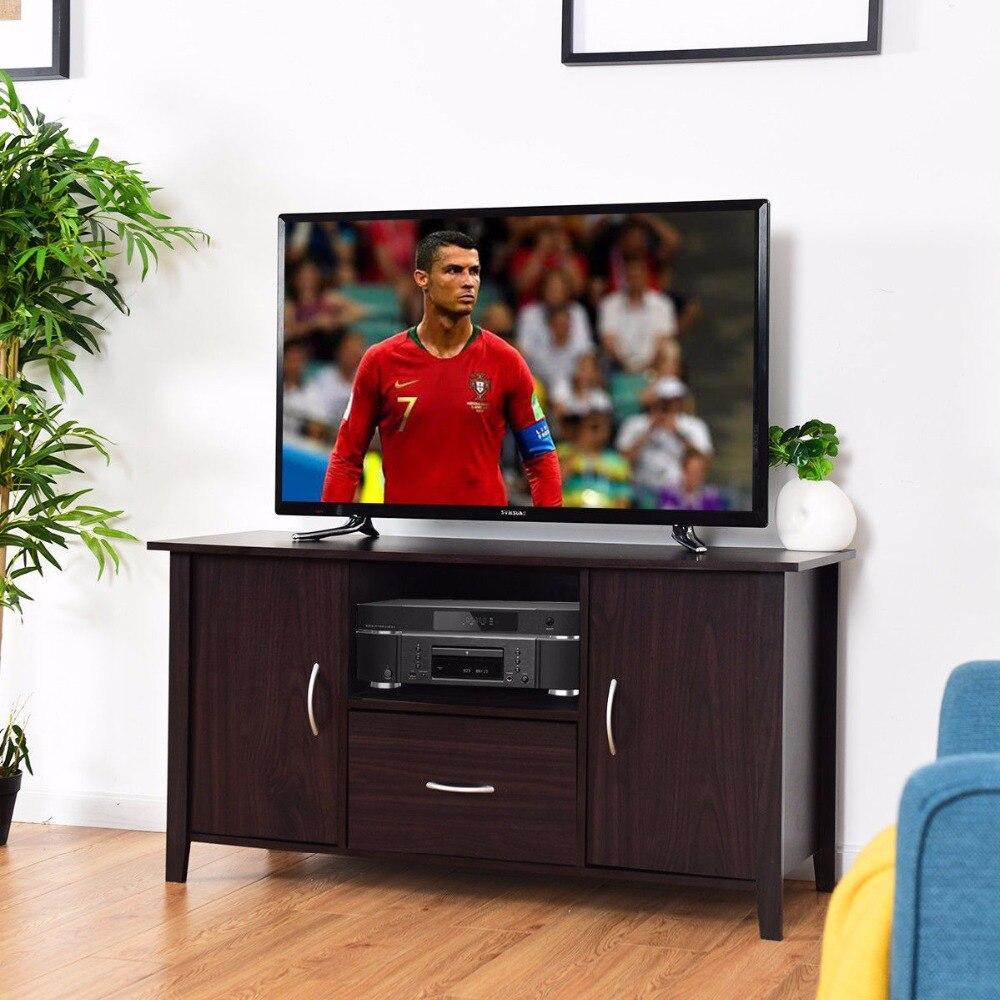Giantex современный ТВ шкаф медиа блок полка для хранения ТВ Стенд медиа консольная мебель домашняя мебель для гостиной HW60336