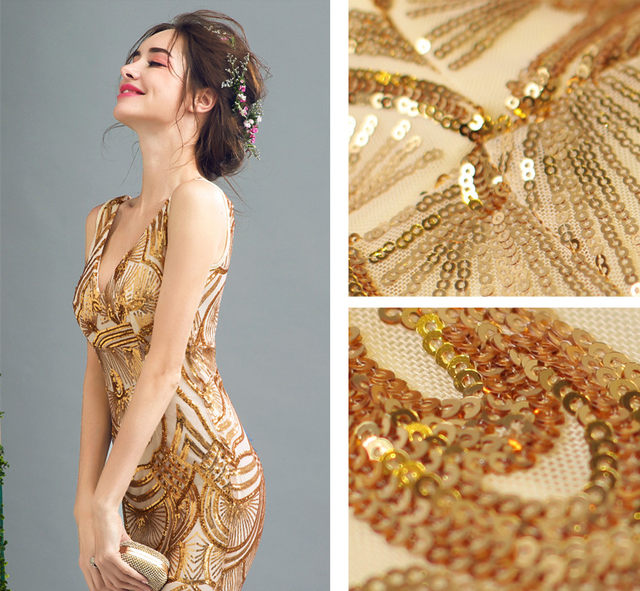 Evening dresses with bling
