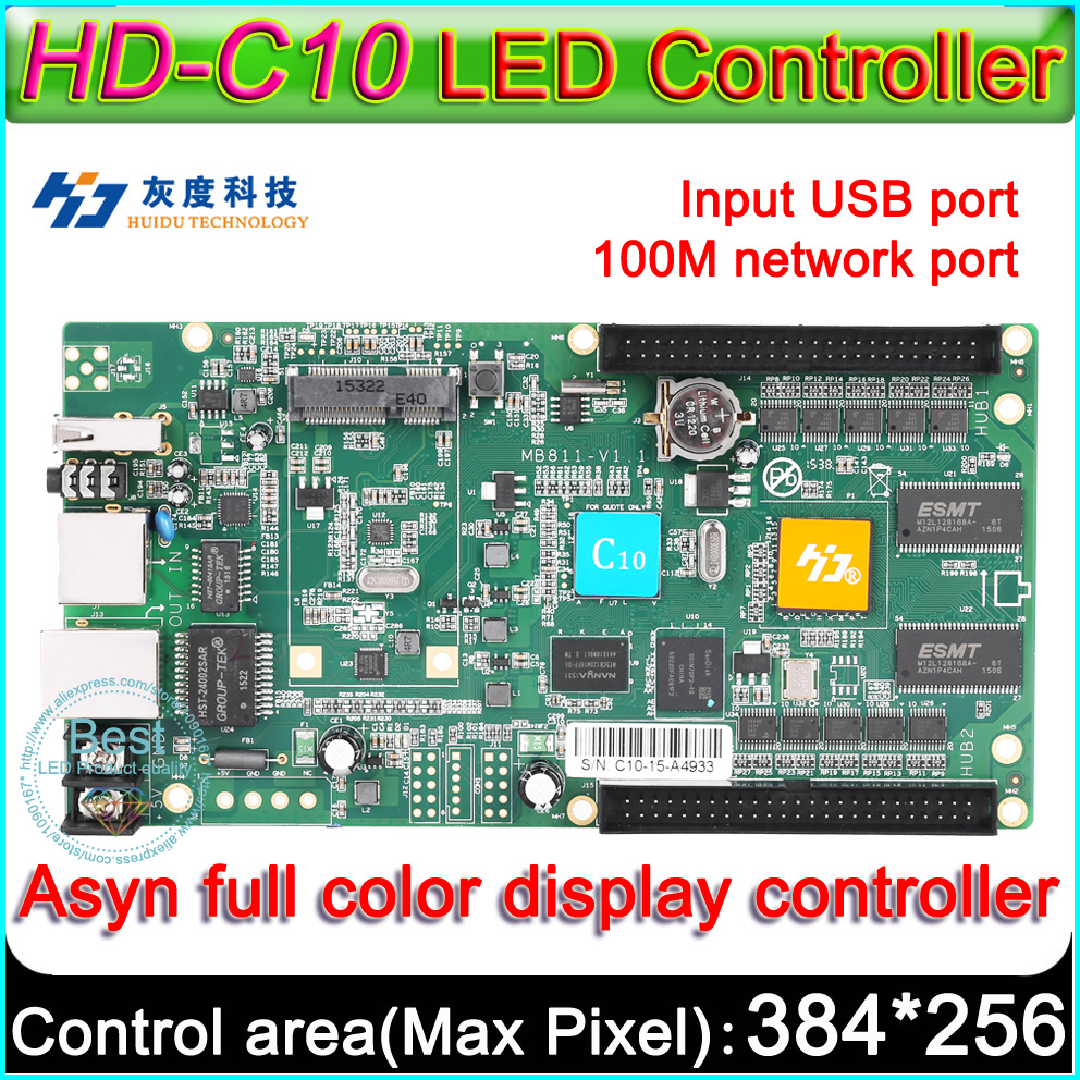 Hd C10 Full Color Asyn Led Display Control Card P3 P4 P5 P6 P8 P10 Tri Circuit Controller 384x320 Pixel On Board Flash 4gb In Displays From