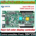 HD-C10 Full color Asyn LED display control card, P3 P4 P5 P6 P8 P10 LED display controller, 384x320 Pixel, On board Flash  4GB