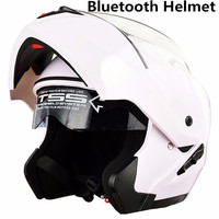 Capacete de moto novo com lentes duplas  capacete para motocross e rosto inteiro com bluetooth l xl xxl