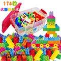 174 Unids/caja Bloques aclare Niños Divertidos Mini Bloques De Juguete de Plástico de Colores Grandes Ladrillos Juguetes para Niños