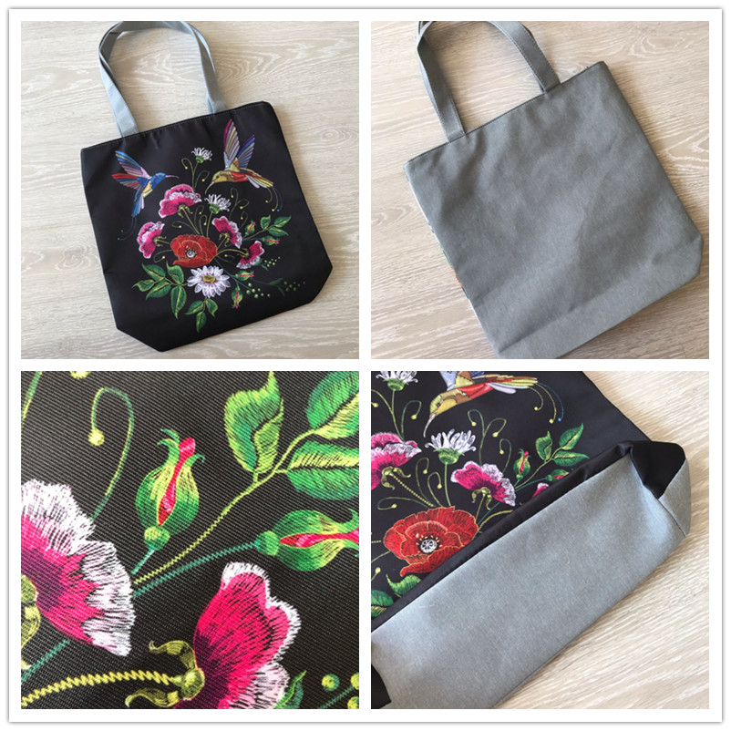 Miyahouse Colorful Flower Design Beach Bags Female Canvas Casual Tote Handbag Striped And Butterfly Print Shoulder Bag Bolsa 5