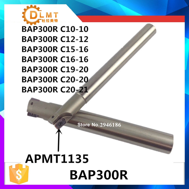 BAP300R C10 10-120 C12-12-130 C16-16-150 C20-20-150 2T Right Angle 90 Degree Milling Cutter Arbor For APMT1135 Carbide Inserts