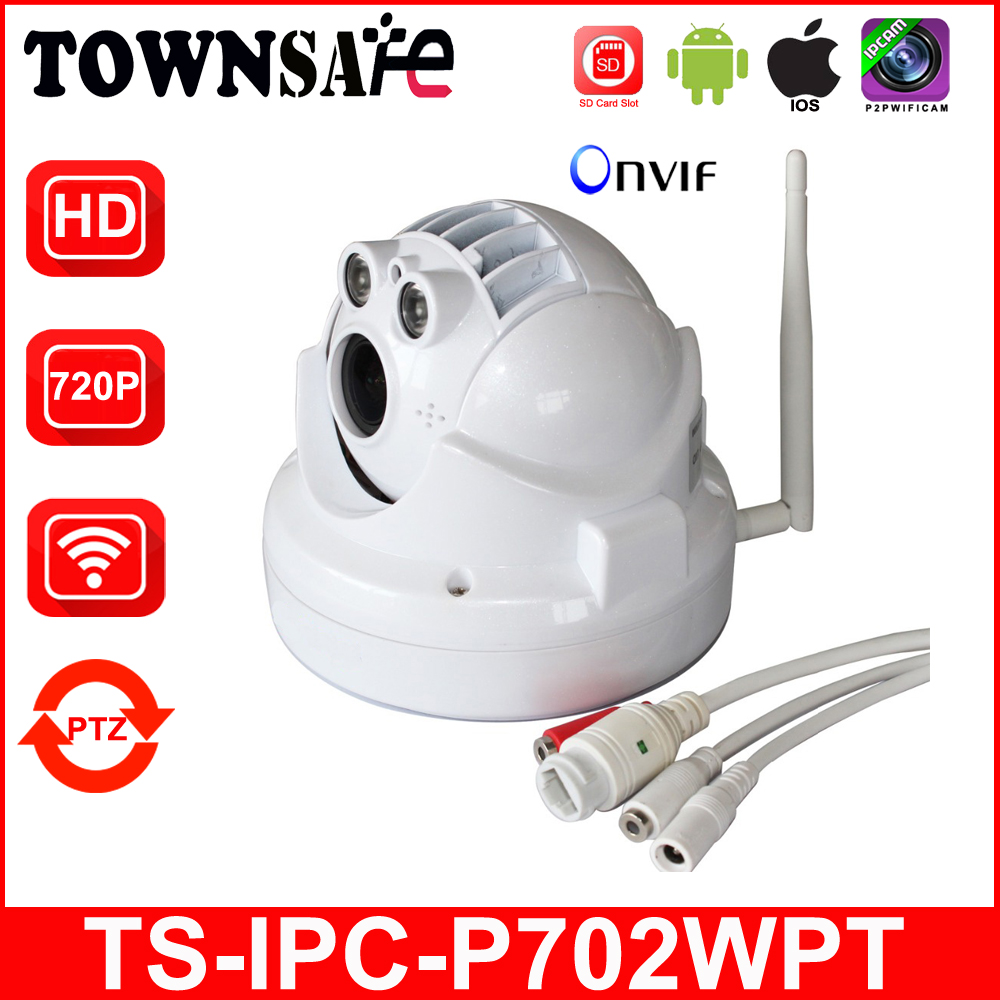 TOWNSAFE SP-P702WPT Wifi Wireless HD 720P 1.0MP Dome IP Camera MINI PTZ ONVIF IR Security Cam with SD Card Slot Audio Line P2P cheapest home smart ptz wireless ip camera ip camera wifi hd ir sd card 720p onvif p2p for android ios pc remote monitoring