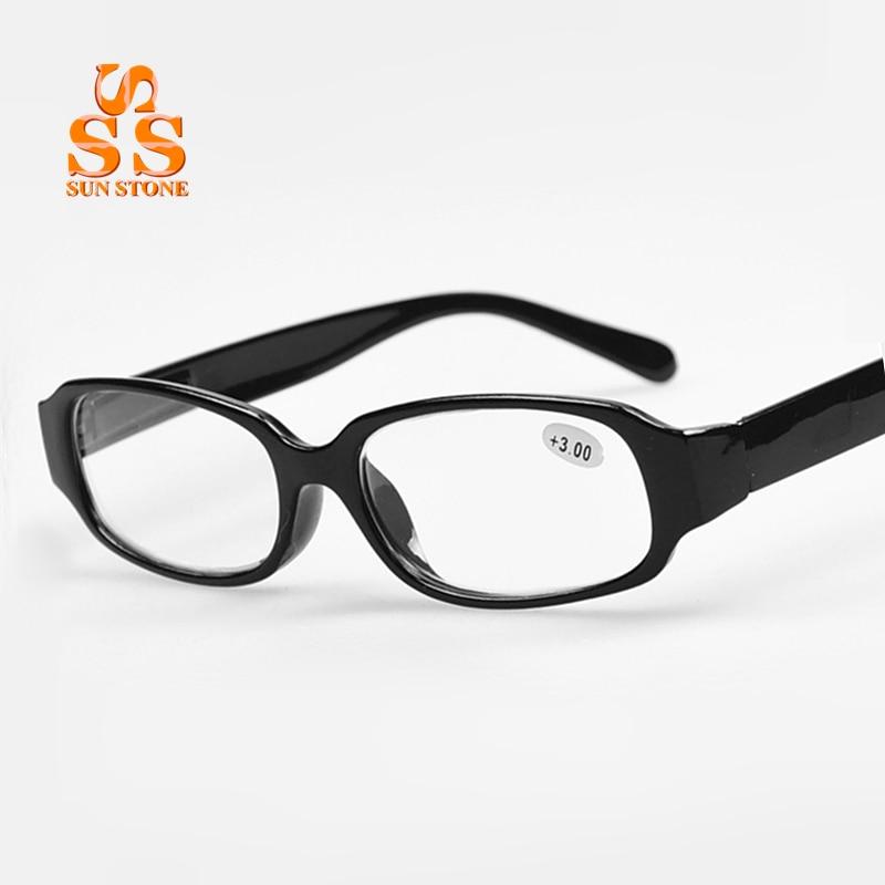 2016 newest fashion designer black plastic frame spring hinge healthy reading glasses classic cheap presbyopic eyeglasses g156