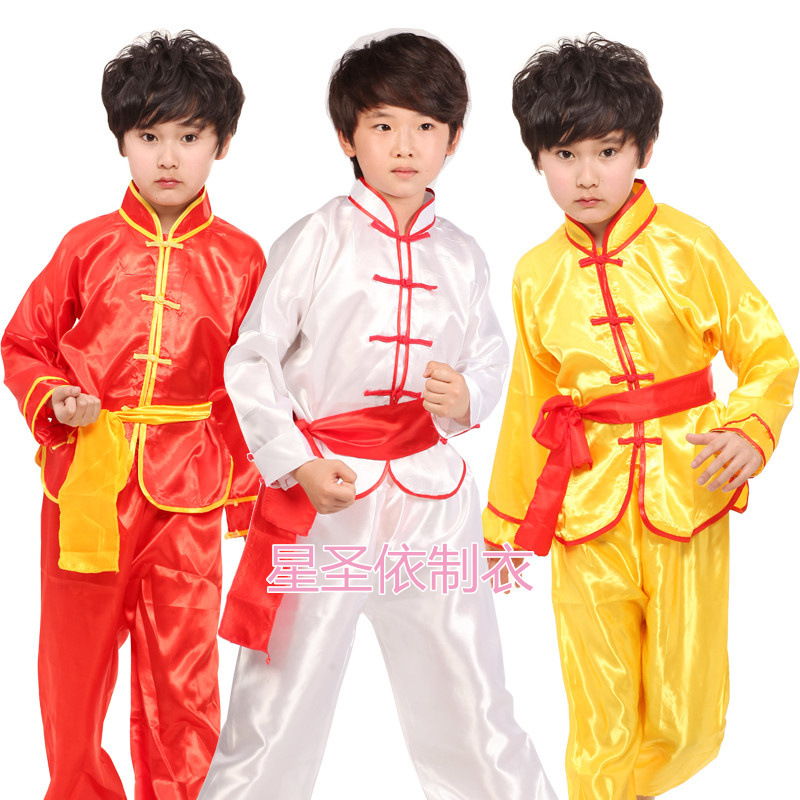 Children's Clothes Boys And Girls Long Sleeve Performance Boy's Acrobatics Dance Chinese Martial Arts Dance Superior Quality