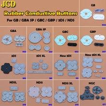 JCD botón conductor de goma A B d pad para Game Boy Classic GB GBC GBP GBA SP para 3DS NDSL NDSI NGC, teclado de silicona de inicio Select