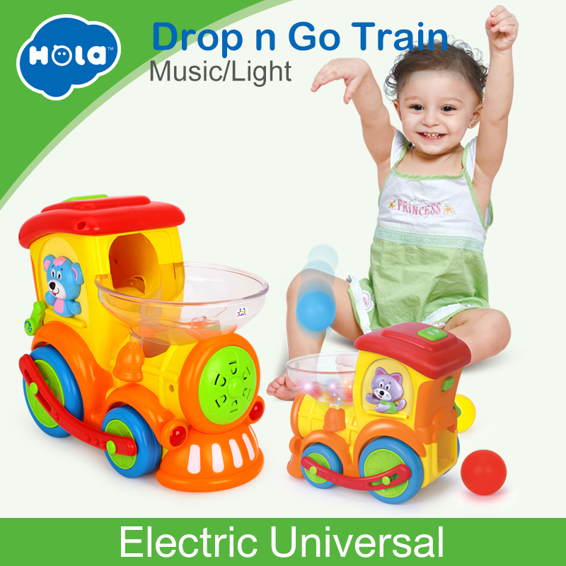 все цены на HUILE TOYS 958 Baby Toys Electric Universal Moving Train with Chasing Balls Activity, Light, Talking & Singing онлайн