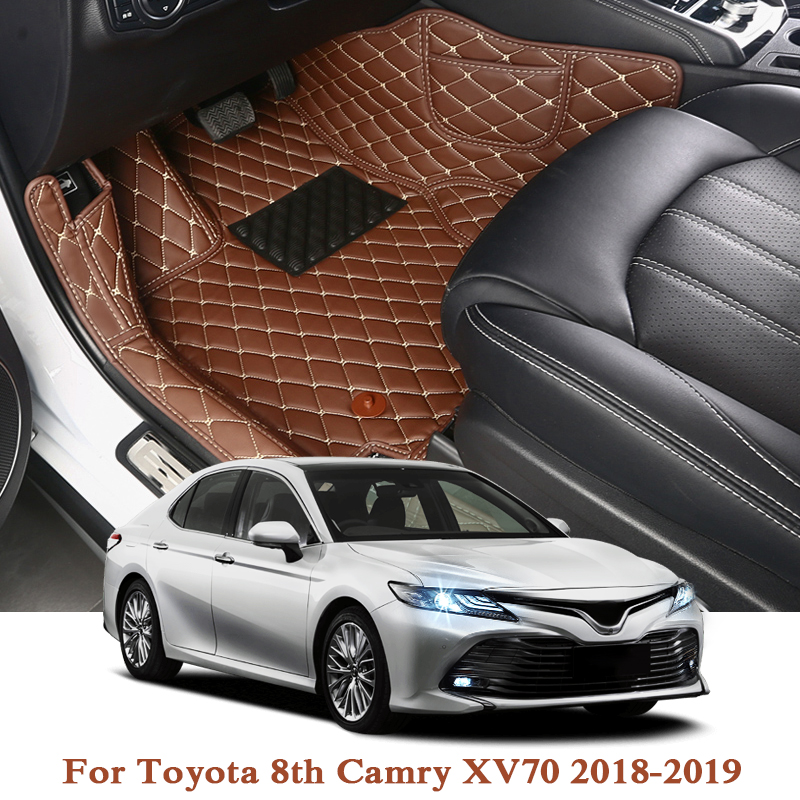 Car Styling PU For Toyota 7th Camry XV50 XV70 2012 2019 LHD 5Seats Car Floor Mats