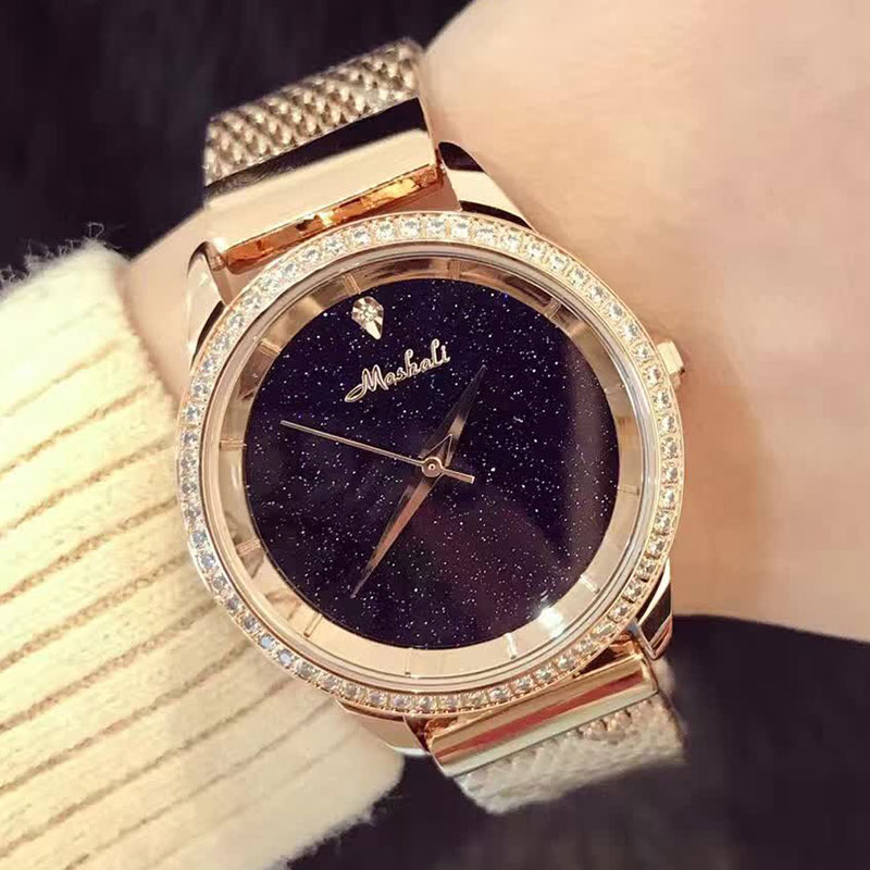 New Brand Women Bracelet Watch Fashion Clock Relogio Feminino Ladies Dress Watches Rose Gold Diamond Wristwatches montre homme new fashion brand gold geneva casual quartz watch women crystal silicone watches relogio feminino dress ladies wristwatches hot