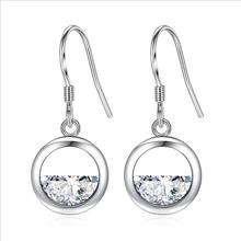 Everoyal Charm Lady Silver 925 Sterling Earrings For Women Trendy Crystal Ocean Drop Girls Accessories