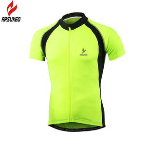 ARSUXEO Men Short Sleeve Cycling Jersey 2017 T Shirts Road Mountain Bike  Bicycle 34f0d29a5