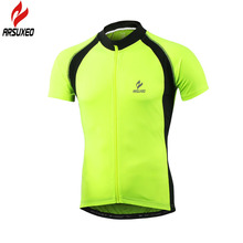 ARSUXEO 2017 New Pro Team Summer Cycle Jersey Men Short Sleeve Cycling Jersey Road Mountain Bike Bicycle MTB Clothing T Shirts new pro cycling team orbea clothing long sleeve shirts to fall mountain bike bicycle cycling cycle sport ciclismo europa