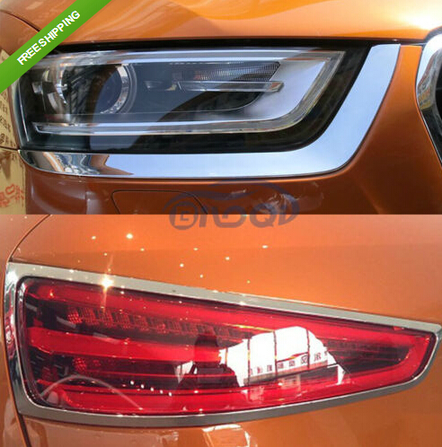 Здесь можно купить  Chrome Headlight + Tail Light lamp cover trim for Audi Q3 2012 2013 2014 Chrome Headlight + Tail Light lamp cover trim for Audi Q3 2012 2013 2014 Автомобили и Мотоциклы