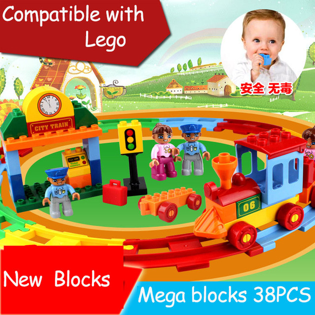 38PCS Building Blocks Mega Construction Toys Toddlers Models Toy Educational