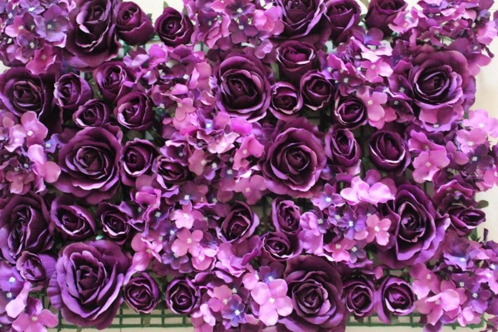 SPR 10pcs / lot Umetna svila rose cvet stena 10 barv poročno ozadje - Prazniki in zabave - Fotografija 6