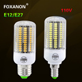 Foxanon 5733 SMD Bulb E27 / E26 15w Led lamp E12 Corn Light lampada 110V 3w 5w 7w 10w Candle Light 100W 150W Equivalent Lighting