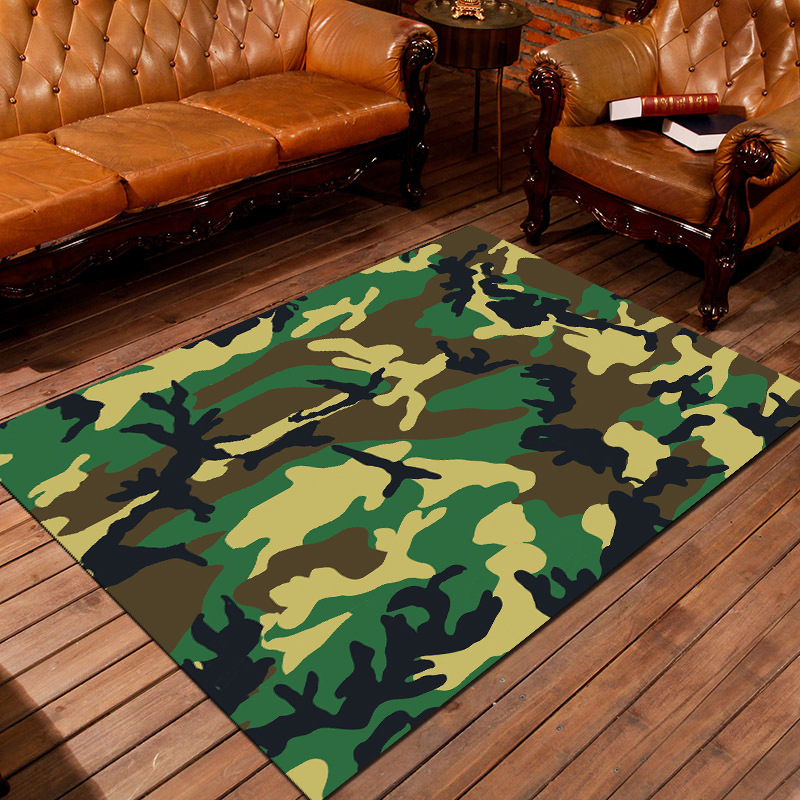 Modern Cartoon Mat Room Area Rug Floor Carpet For Living Room Bedroom Tea Table Rug Large Camouflage Carpets Floor Rug