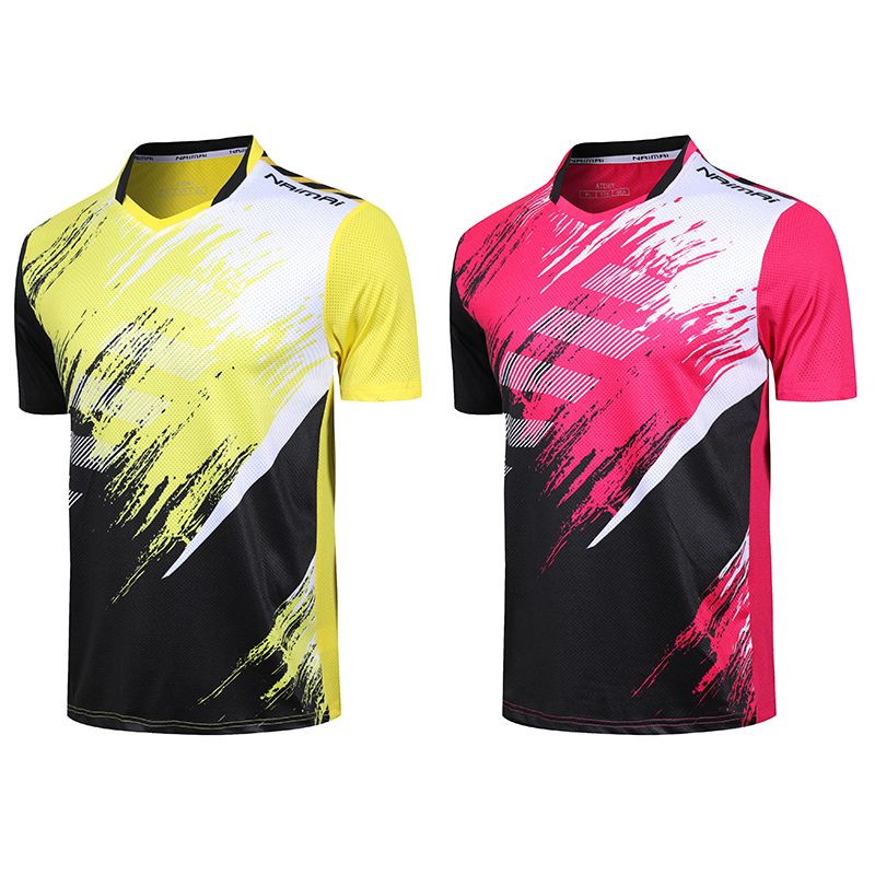 2019 New Free Print Quick Dry Badminton T Shirt Women Men Tennis T Shirt Badminton Wear Clothes Tennis Shirts Tennis Shirts Aliexpress