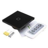 KINCO AC170 240V EU UK 1Gang 1Way RF433 Standard Smart Touch Wall Switch Remote Control Switch