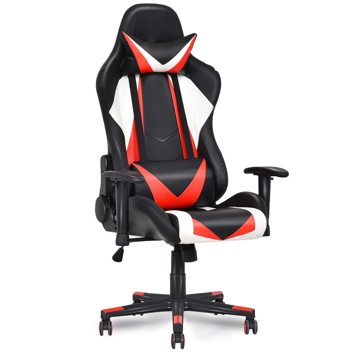 giantex racing style high back recliner gaming chair modern mesh