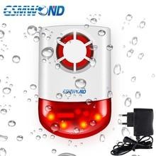 315MHz Wireless Strobe Siren Outdoor Waterproof Lightning protection 120dB Loudness Sound & Flash Light Alarm For M2B G2B Alarm