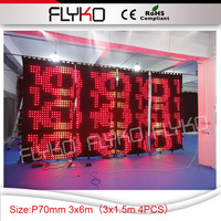 grow led lights v show pro lighting bar party decorations led curtain P7 for nighclub booth