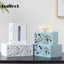 Ретро деревянная коробка для салфеток полый контейнер для полотенец салфеток коробка для салфеток белый/синий бумажный держатель для салфеток чехол бытовой бумажный Органайзер