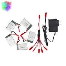 H11D 3.7 v Lipo batterie 1000 mah JST batteries 5 pcs et chargeur pour JJRC H11C HQ898 rc Quadcopter drone partie en gros
