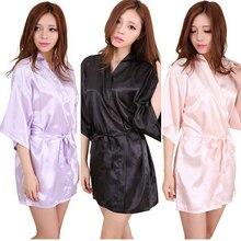 RB034 новые атласные халаты для подружек невесты, белые свадебные халаты из искусственного шелка для сестер/кимоно халаты