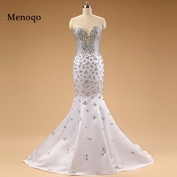 62740W 2018 Special occasion Mermaid Fully Beaded Rhinestone High quality charming evening dresses real sample