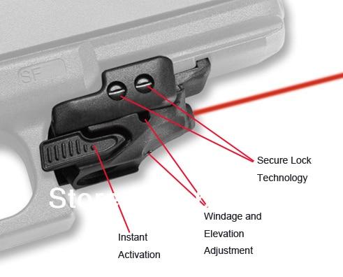 Viseur Laser rouge CMR-201 Rail Master universel Micro pistolet Glock viseur Laser rouge pour arme viseur télescopique