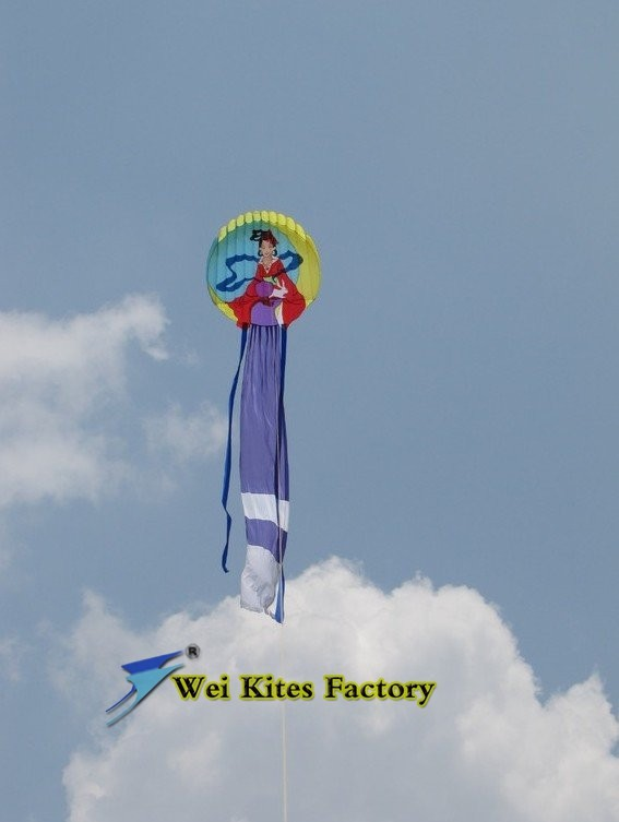 Высокое качество 12 м Китайская традиционная принцесса мягкие змеи большой воздушный змей летающие игрушки Китайский дракон кайт струна weikite