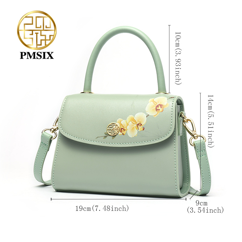 PMSIX Fashion Bloemen Printing kleine vrouwen Handtas Dames Crossbody tassen met Lange Schouderbanden Casual Pochette - 4