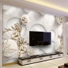 beibehang Custom Wallpaper 3d Large Murals Retro Line Drawing Magnolia Maple Lea