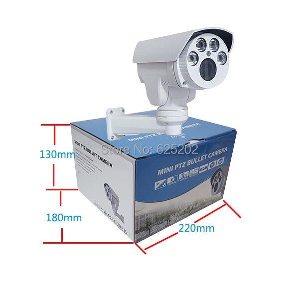 Аналог высокой четкости 1400TVL мини PTZ пуля камера ИК водонепроницаемый 4X Автофокус зум 2,8 12 мм HD объектив - 2