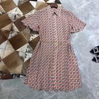 100% Silk Summer Dresses for Women O neck Fashion Dresses for Summer 2019 new Flower Dresses