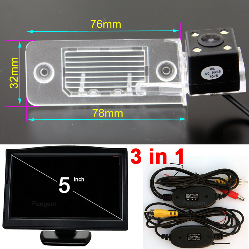 For Volkswagen VW Tiguan Touareg POLO Sedan Santana Passat Car Back up Off Rear View Wireless