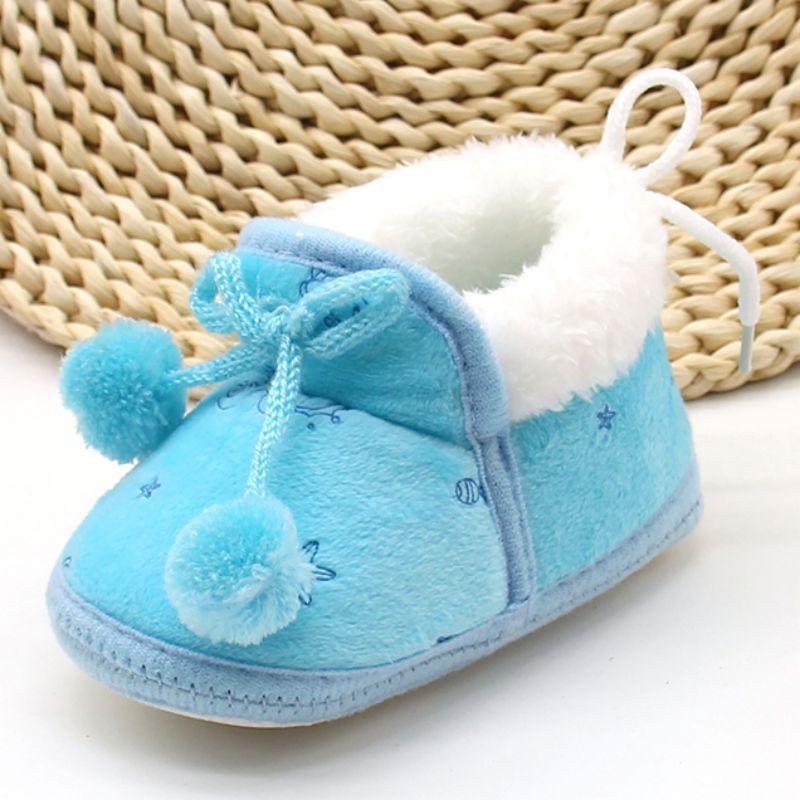 Hiver doux nouveau-né bébé filles princesse bottes d'hiver premiers marcheurs à semelle souple infantile enfant en bas âge enfants fille chaussures 3