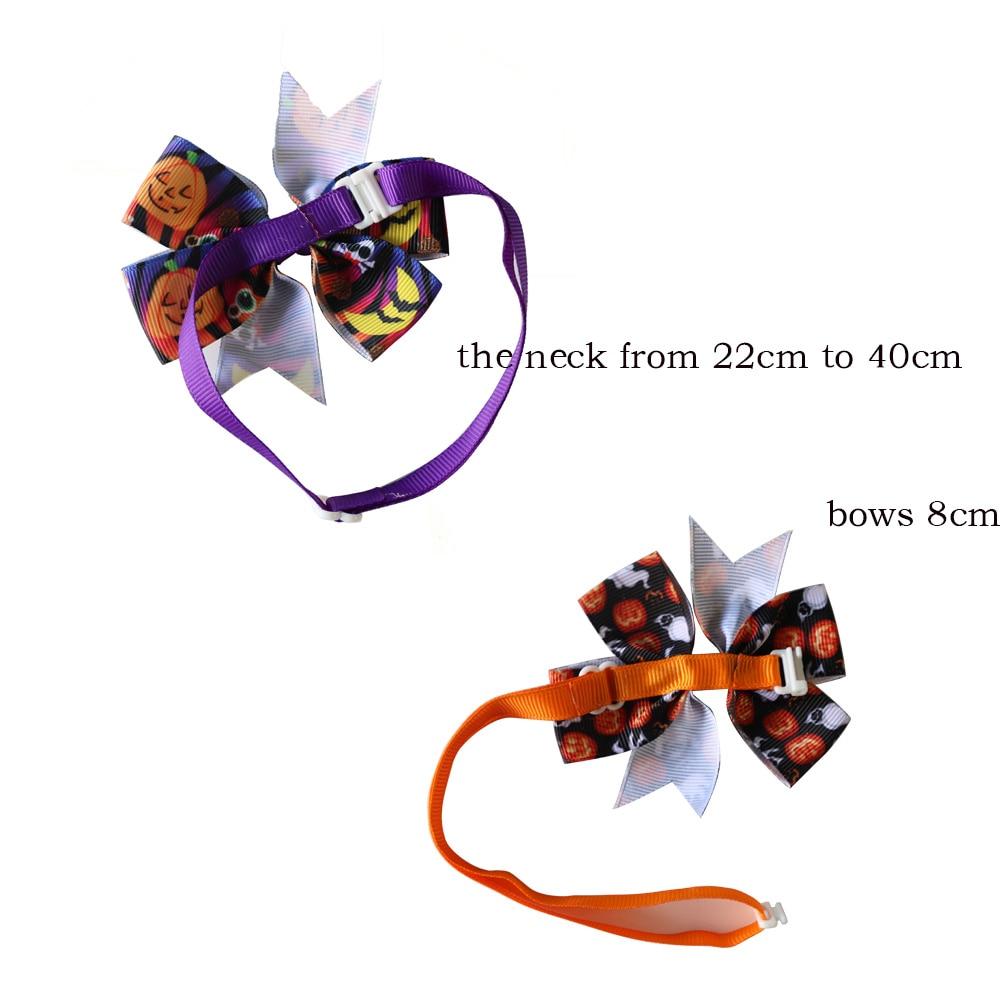 Image 2 - 30 sztuk akcesoria dla zwierząt domowych Halloween wakacje zwierzęta domowe są mucha dla psa krawaty regulowany krawat obroża dla szczeniaka łuk krawat kot produkt dla psa muszkiAkcesoria dla psówDom i ogród -