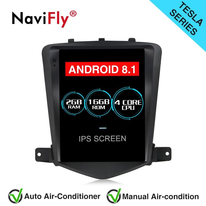 Navifly écran Vertical Android 8.1 voiture GPS Navigation Radio pour Chevrolet CRUZE 2008-2015 Tesla style AutoRadio lecteur stéréo