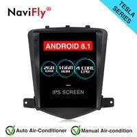 Navifly вертикальный экран Android 8,1 автомобильный gps навигационное радио для Chevrolet CRUZE 2008 2015 Tesla стиль Авторадио Стерео Плеер