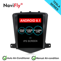 Navifly Vertical screen Android 8.1 Car GPS Navigation Radio for Chevrolet CRUZE 2008 2015 Tesla style AutoRadio stereo player