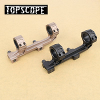 Tactical Gun AR15 Rifle Optic Scope Mount 25.4mm/30mm QD Rings Mount with Bubble Level For 20mm Picatinny Rail