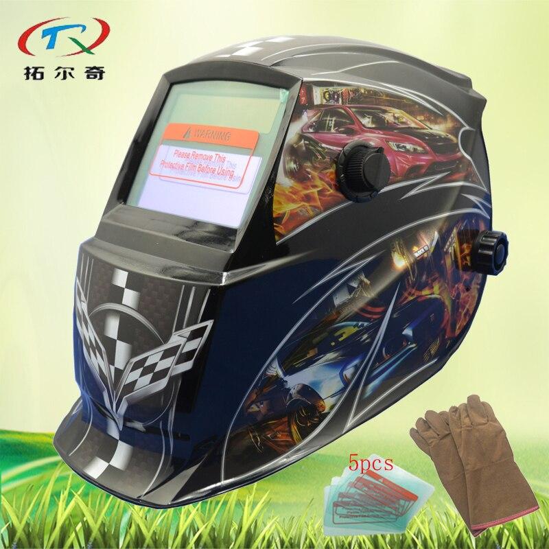 black Chameleon Welder Mask PP Skull Solder Mask solar and battery Electronic Custom Auto Darkening Welding Mask GD06 2233FF GY