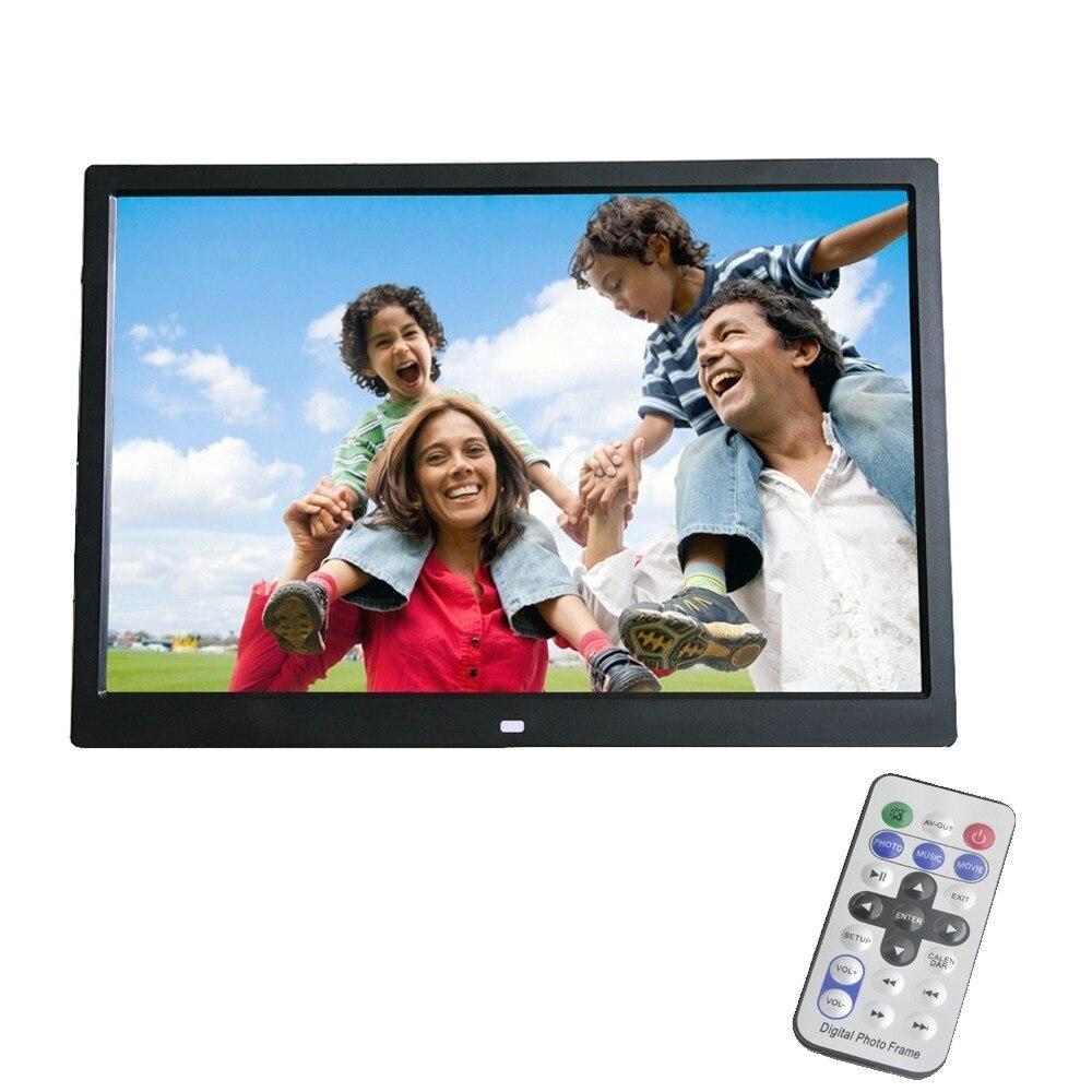 Liedao 12 Polegada Digital Photo Frame TFT Tela HD LED Backlight 1280*800 Álbum de Fotos Eletrônico Música Mp3 Vídeo mp4 Bom Presente